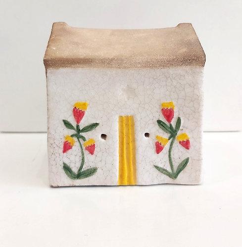 Folk Flower House Yellow