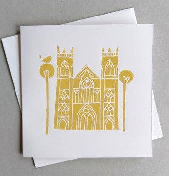 York Minster Linocut Card