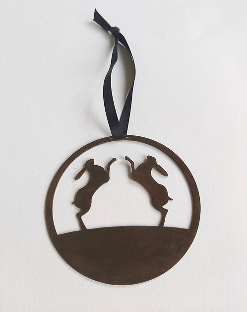 Hares Round Hanging Decoration