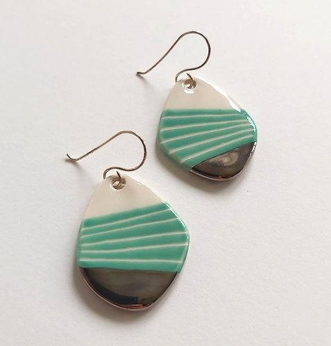 Turquoise Kite Drop Earrings (ic9)
