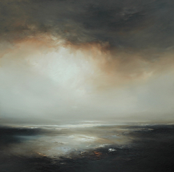 Sienna mist, oil on board, Image size 80 x 80 framed to 97 x 97 cm outer £1550.00