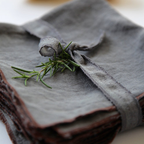 Stone Grey Linen Napkins