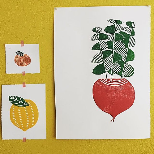 Giant Beet Original Blockprint