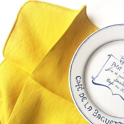 Lemon Yellow Linen Napkins