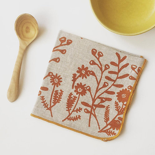 Woodsy linen napkins- set of 4