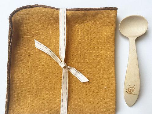 Mustard Yellow Linen Napkins