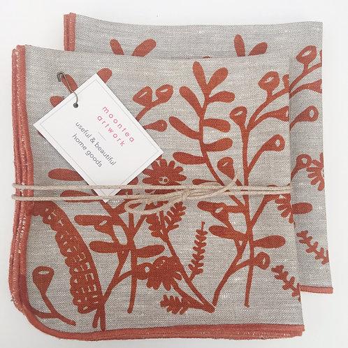 Woodsy linen napkins- set of 4