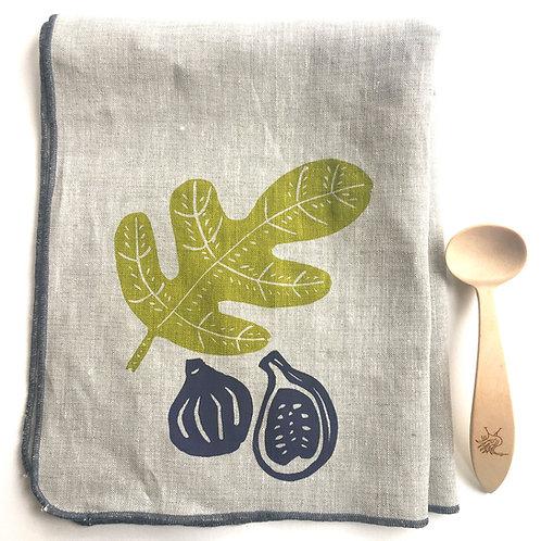 Fig Linen Tea Towel