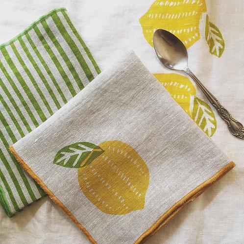Luscious Lemon Linen Napkins