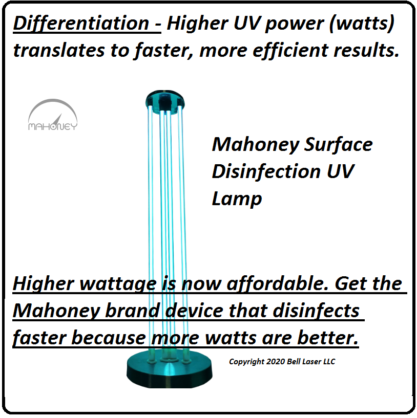 Mahoney Surface Disinfection UV Lamp hig