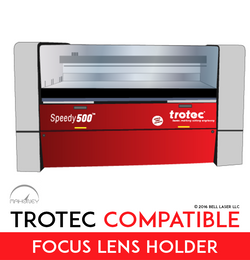 The Trotec Speedy 500 accepts an array of focal lengths including the 2.5 inch lens