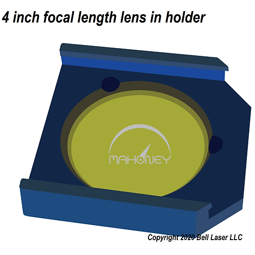 "4"" Medium Grade Lens w/holder fits Trotec Speedy 300 Speedy 400 Speedy 500"