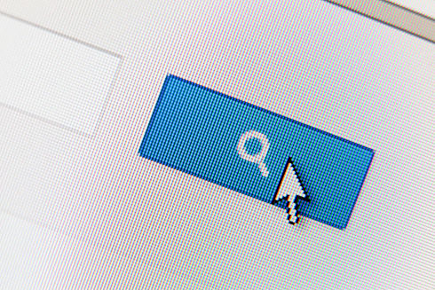 Close up of search button. Concept of po