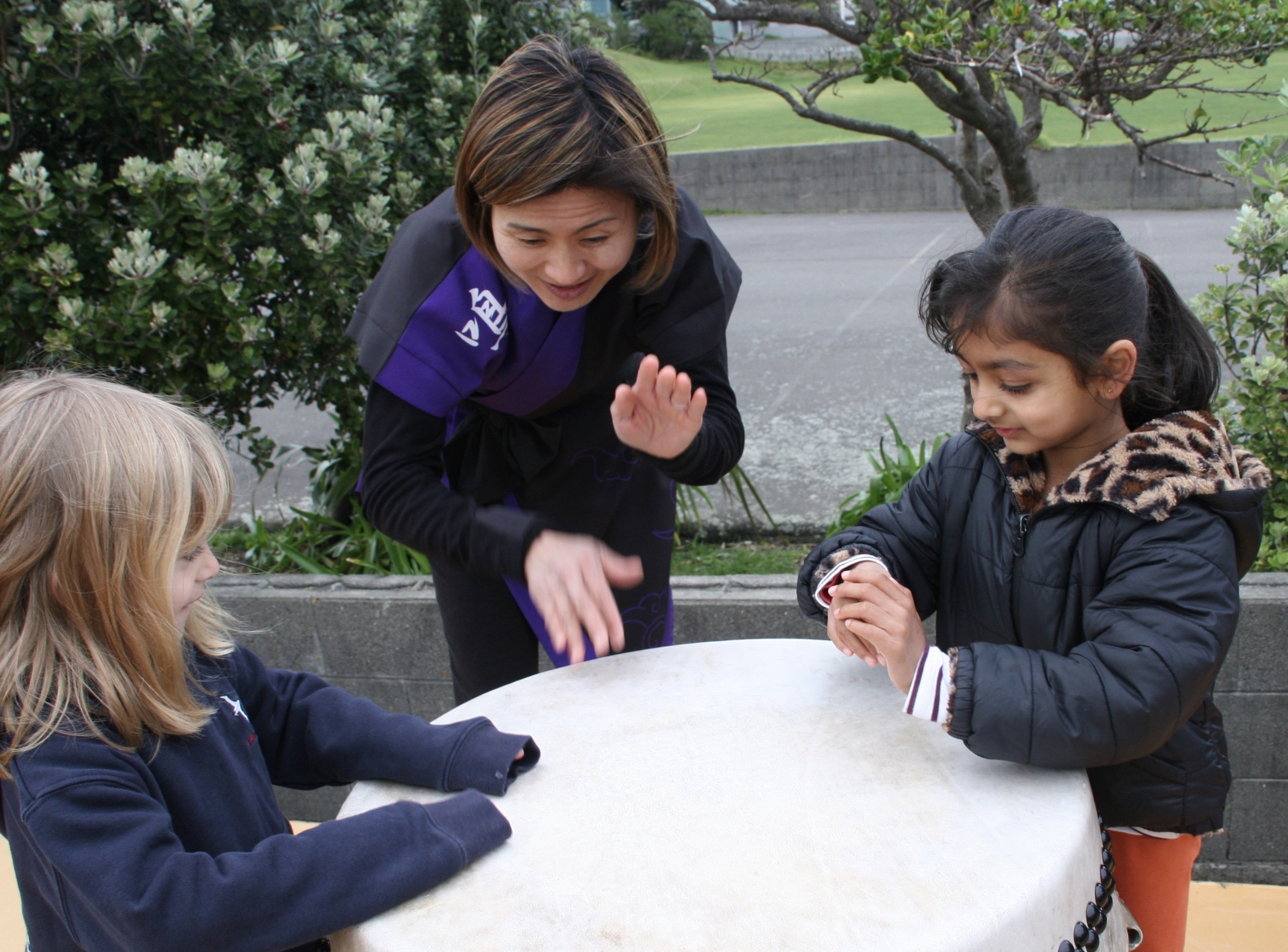 Yuka and Seatoun School Students