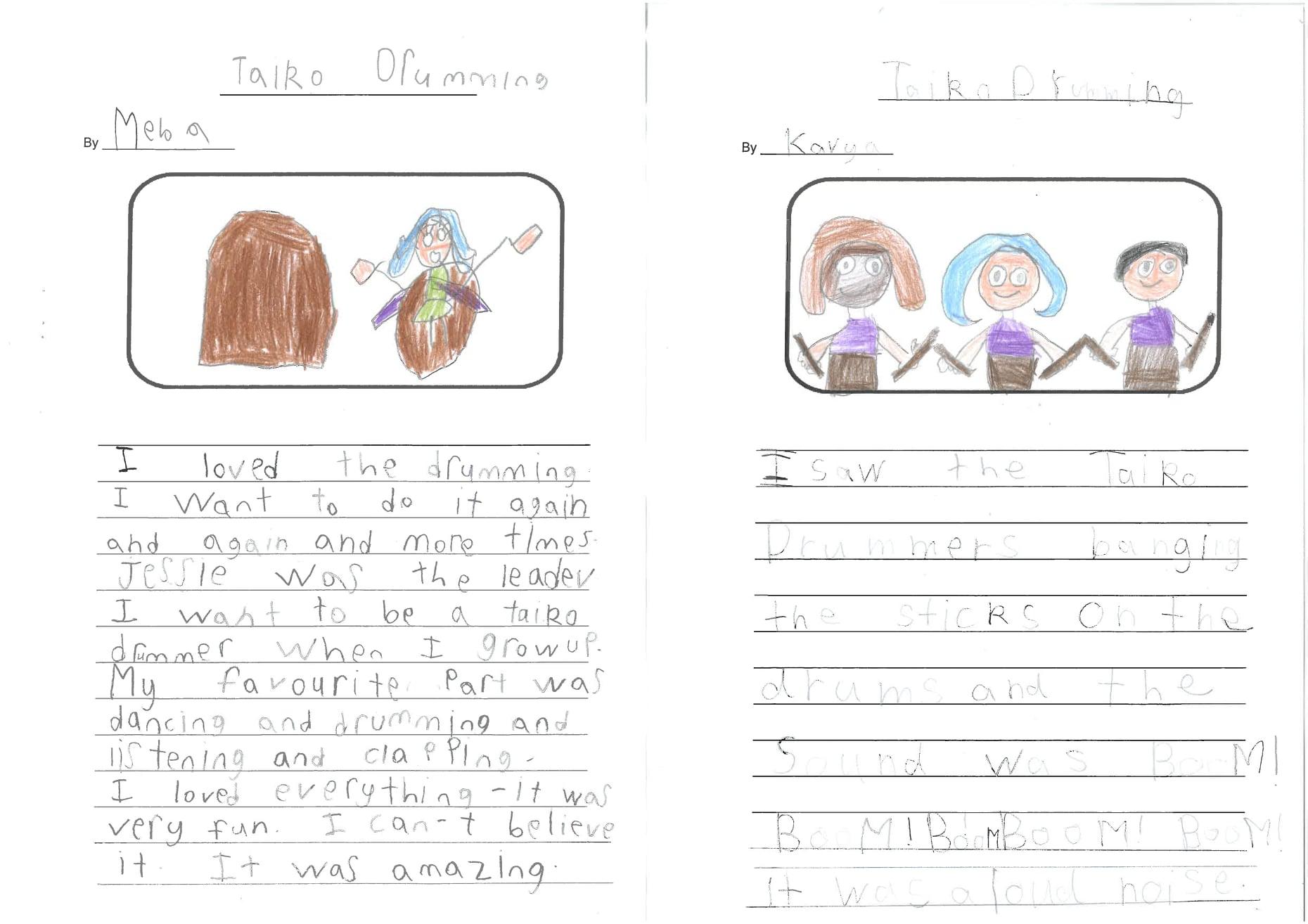 Meba and Kavya's Taiko Stories