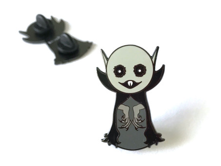Nosferatu Vampire Pin - Halloween Everyday!
