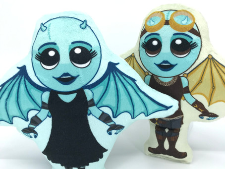 Incoming! Creepy Cute Plush Winged Monsters!