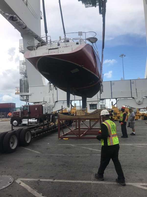 Boat being loaded