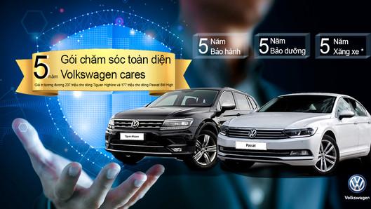 Volkswagen Cares - Gói chăm sóc toàn diện 5 năm