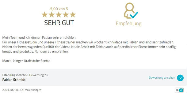 Bewertung Fabian Schmidt Media Kraftstube Sontra