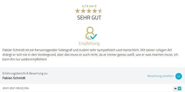 Bewertung Fabian Schmidt Media BKK Werra