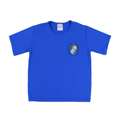 British School Camisa House Azul Bordada