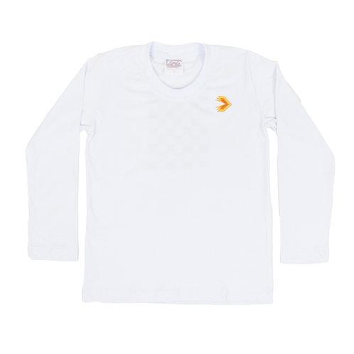 Eleva Camisa Manga Longa Malha Branca Ed. Infantil