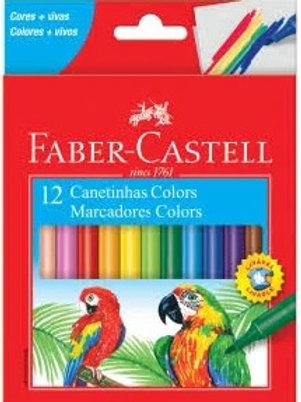 Caneta Hidrocor 12 cores - Faber