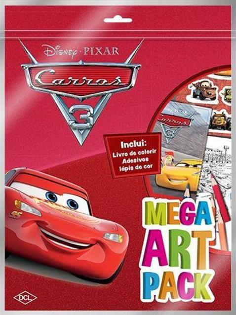 Livro Mega Art Disney Carros 3