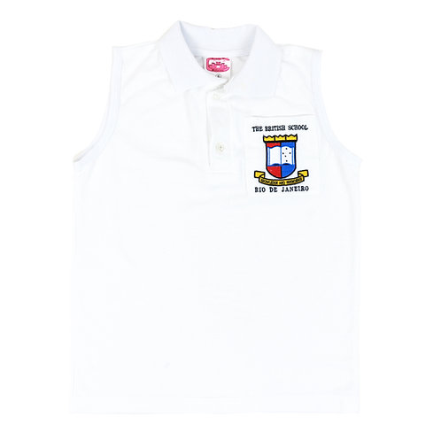British School Camisa Polo Sem Manga