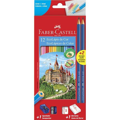 Ecolápis de cor - 12 cores - Faber Castell