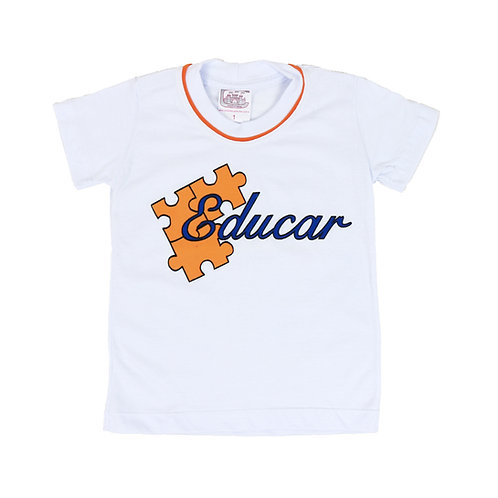 Educar Camisa Manga Malha Branca Ed. Infantil
