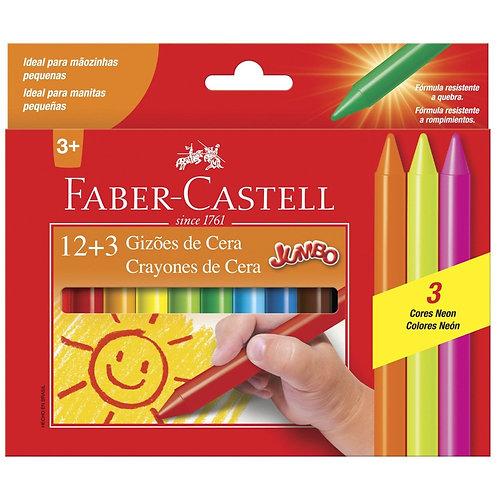 GIZÕES DE CERA 12 CORES - Faber-Castell