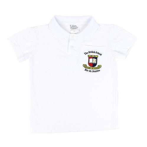 British School Camisa Polo Branca