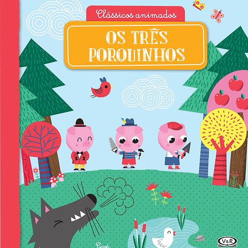 Livro Clássicos animados - Os três porquinhos