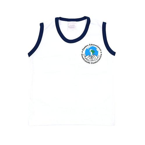 CECC Camisa Sem Manga Malha Branca