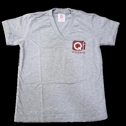 QI Camisa Gola V Cinza