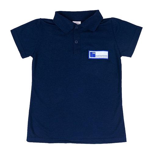 Escola Suíço-Brasileira Camisa Polo Piquet Azul Feminina