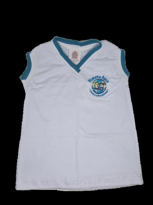 Planeta Água - Camisa sem manga branca