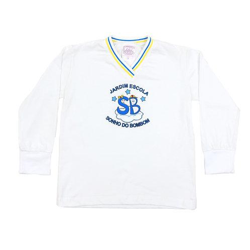 Sonho de Bombom Camisa Manga Comprida Branca