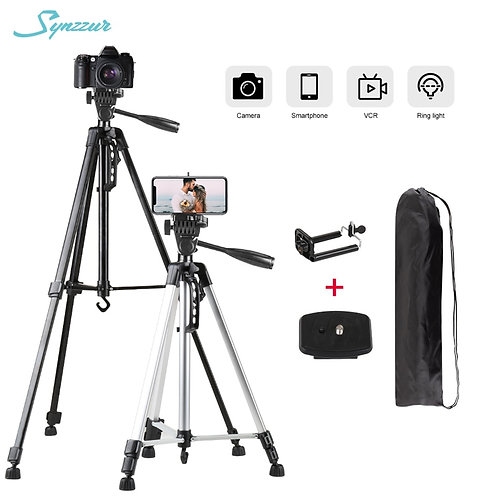 55inch Portable Tripod with bag, phone mount and camera mount