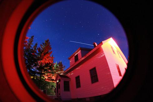 ISS flying overhead in Acadia