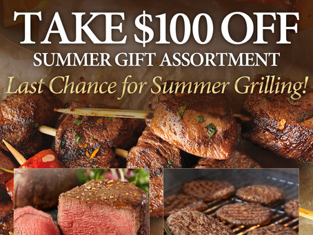 Take $100 off end of season sale Chicago Steak Company