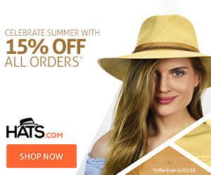Hats Summer Sale 15% Off