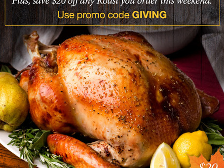 Order your #Turkey now get 20% off