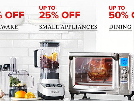 UP TO 75% OFF KITCHEN APPLIANCES