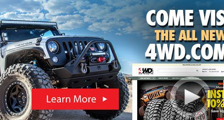 Memorial Weekend Sale: We Pay Your Sales Tax Sitewide on Everything Only at 4WD.com. Shop Now!
