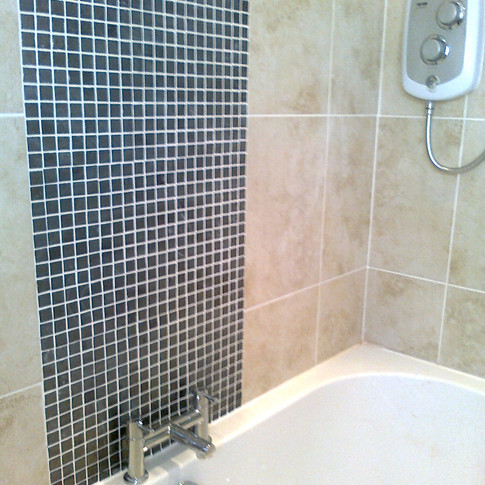 Wall tiling with mosaic feature