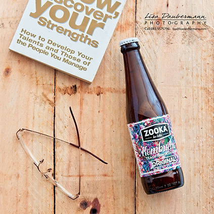Zooka original flavoured kombucha tea flat lay image