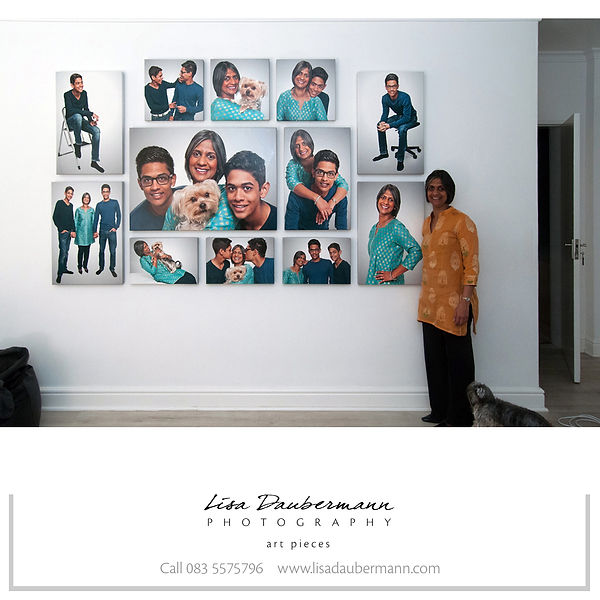Family Portraits, home installation